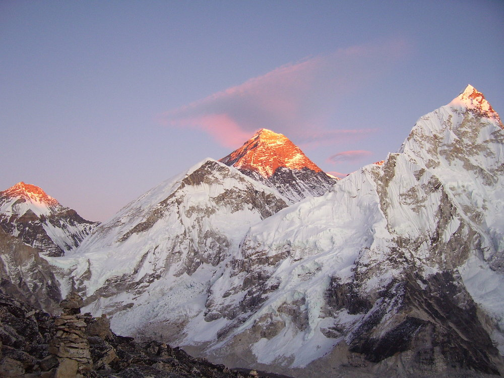 Everest at Sunset, seen from Kala Pattar, Nepal., 167 kb