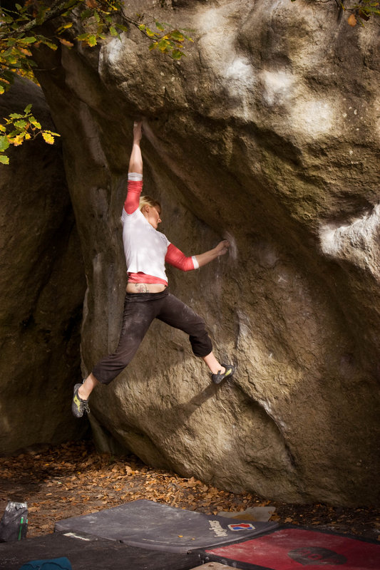 Leah Crane on Carnage, Fontainebleau, 126 kb