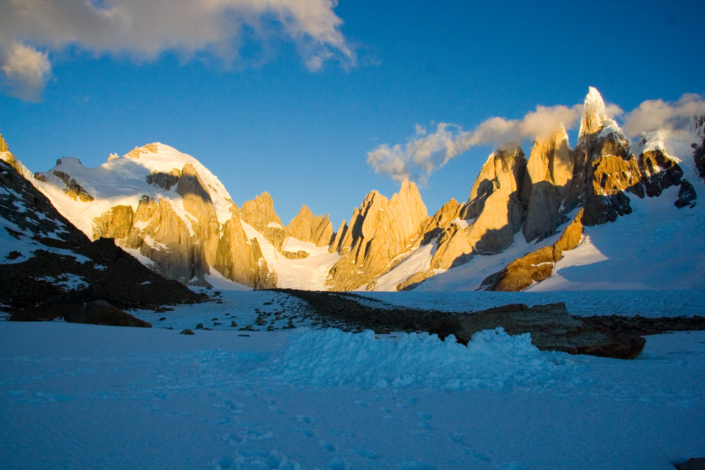 Christmas Eve doesn't get much better - Sunset on Cerro Torre, 223 kb