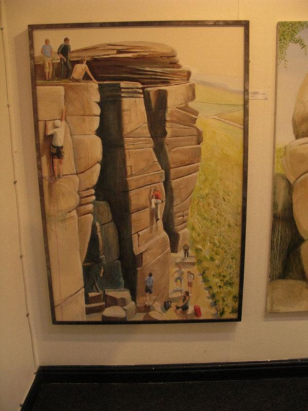 Jim Curran's art in the Sugar Room gallery, 96 kb