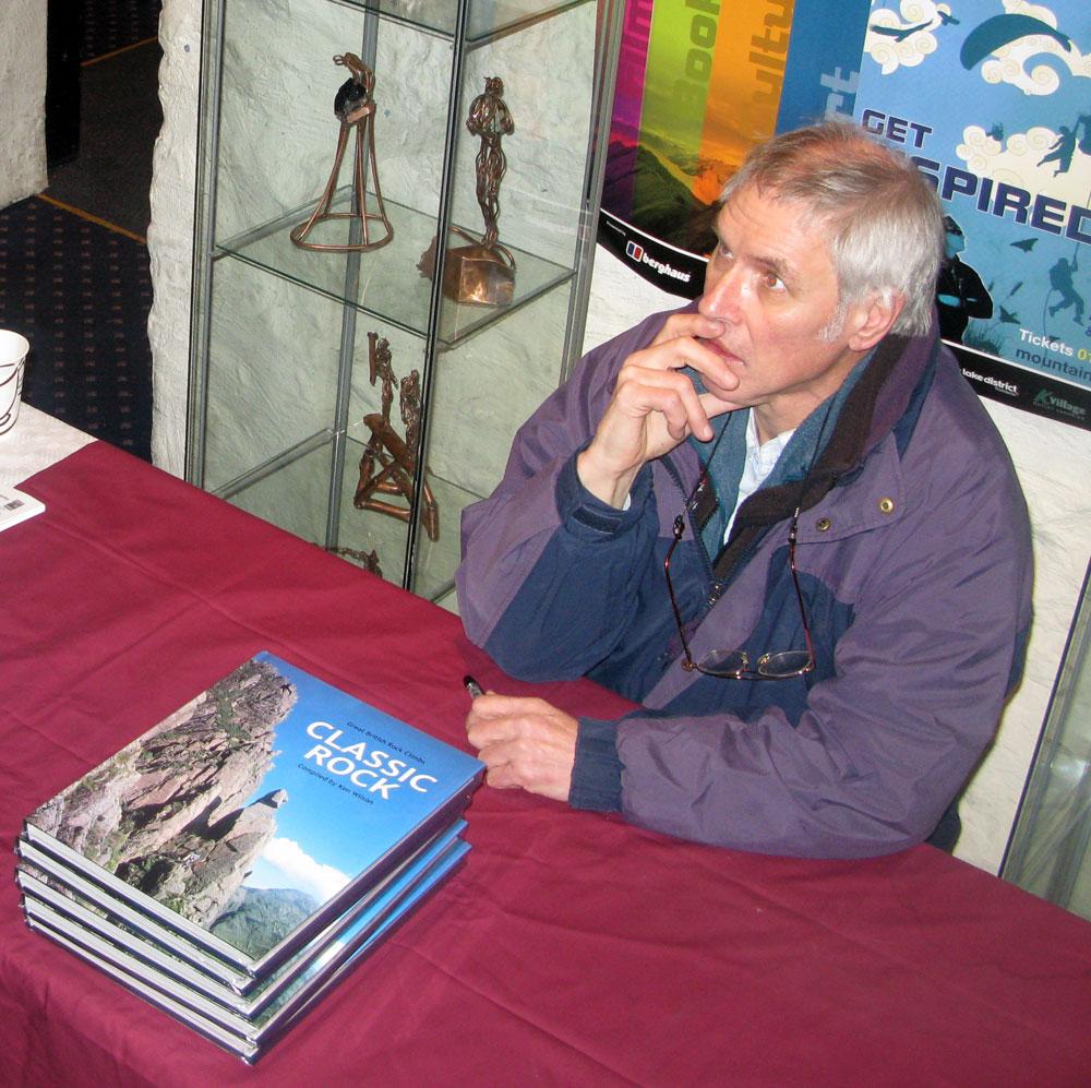 Ken Wilson contemplating his next book, Bouldering Classics of The UK, 225 kb