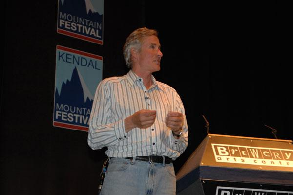 David Brashears had the audience captivated with his experiences of filming on Everest. , 22 kb
