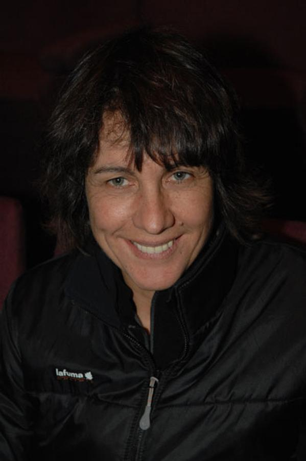 Catherine Destivelle introduced her new film Beyond the Summits., 33 kb