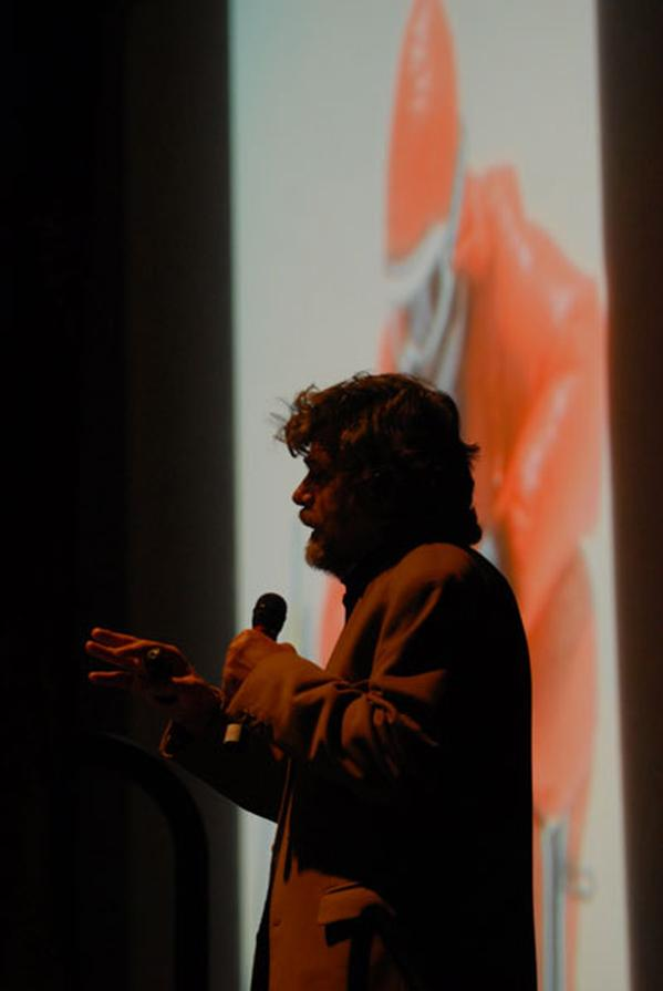 Reinhold Messner had a capacity croud at the leisure centre for - Passion for Limits., 27 kb