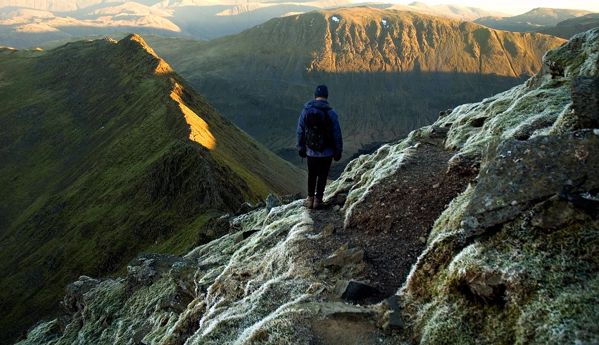Last light on Striding Edge, Helvellyn, 219 kb