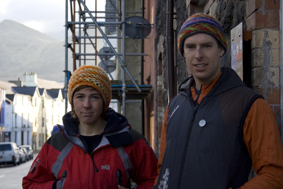 Owen Samuel and Rocio Siemens on the Llanberis high street, 182 kb
