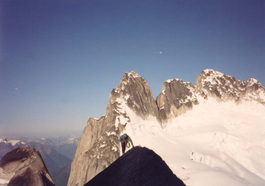 Best 5.4 on the planet -- West Ridge, Pigeon Spire, Bugaboos, 48 kb