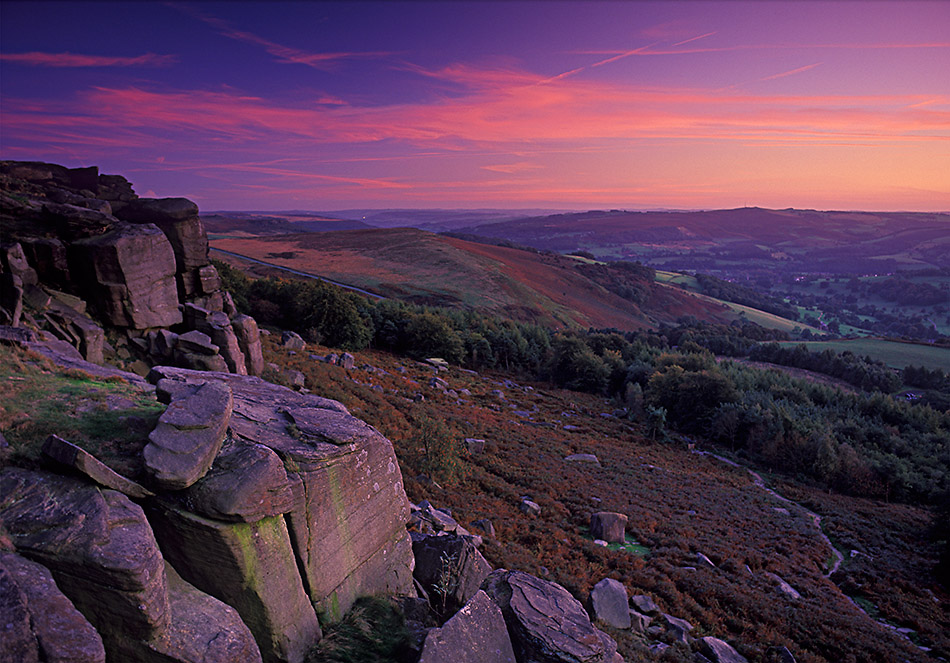 September evening, Stanage plantation, 222 kb