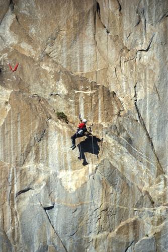 Karen climbing El Cap, 118 kb