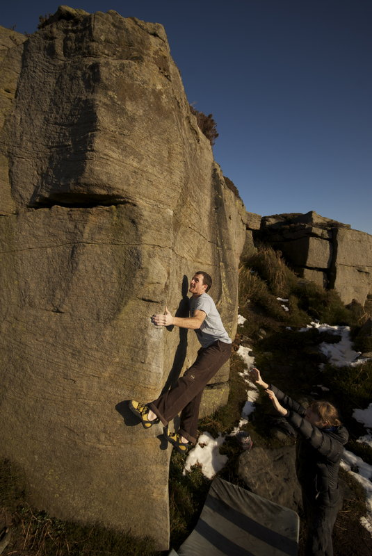 Testing the Katana's technical credentials on Lay-By Arete at Slipstones, 94 kb