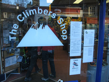 The Climbers' Shop window features their popular weather report for the fells, and a new addition, Langdale MRT Incident Report, 34 kb