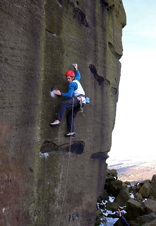 James Pearson on the second ascent of Gerty Berwick at Ilkley, 201 kb