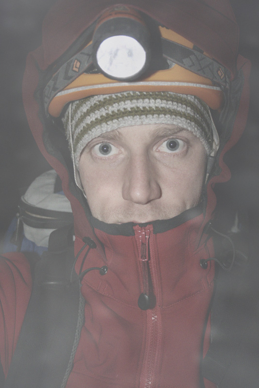 Self Portrait - after winter climbing in the Gamma SV, 97 kb