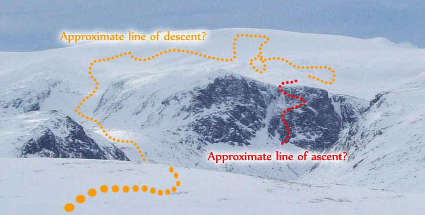 Our line of ascent on Aphrodite? I think anyway., 57 kb