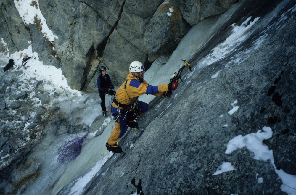 George McEwan on thin ice at Boulder Canyon, 155 kb
