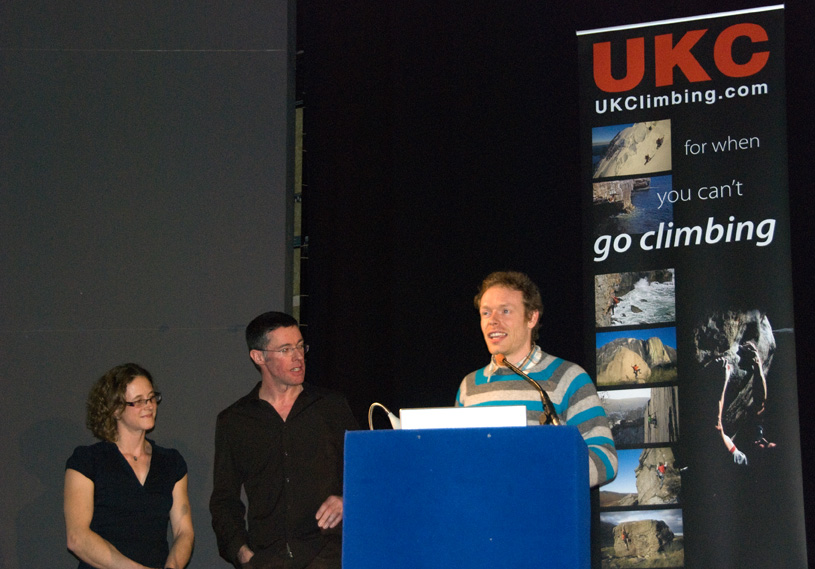 Dominic Green accepting the prize for the Best Film at ShAFF 2009 - Andy Parkin: A Life In Adaptation, 159 kb