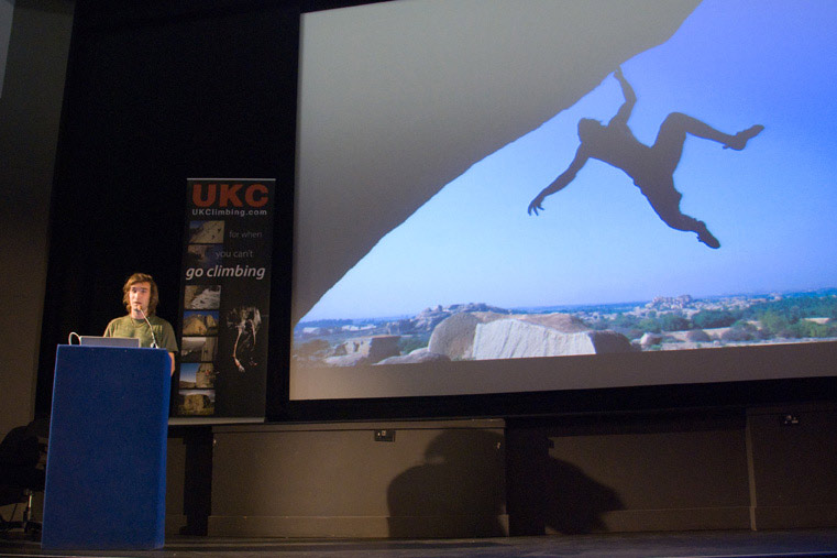 The Chris Sharma lecture was a highlight of ShAFF 2009, 76 kb