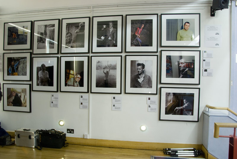 Ed Luke's stunning set of portraits of top climbers at ShAFF 2009, 96 kb