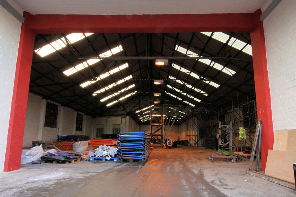The Depot before construction was fully underway, 168 kb