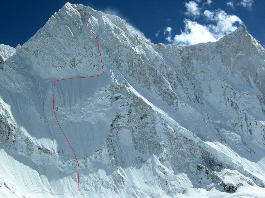The line of 'Bushido' - the new route on Kalanka, 150 kb