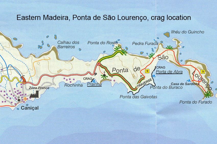 Madeira: Map of the Climbing Areas, 231 kb