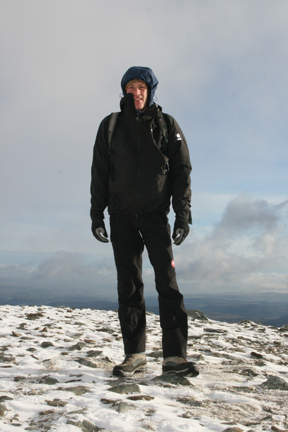Jack Geldard testing the Crux Torq Jacket in winter conditions, 135 kb