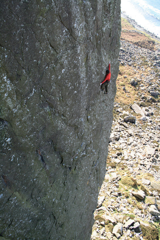 Ricky Bell run out on The Big Skin (E8 6c), 176 kb