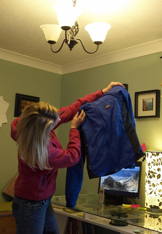 Sarah Stirling gets to grips with the Vapour-Rise Trail Jacket, 78 kb