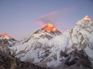Everest at Sunset, seen from Kala Pattar, Nepal., 19 kb