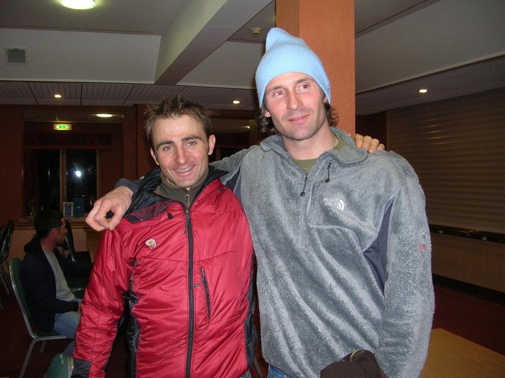 Ueli Steck and Erwan Le Lann at Glenmore Lodge, 152 kb
