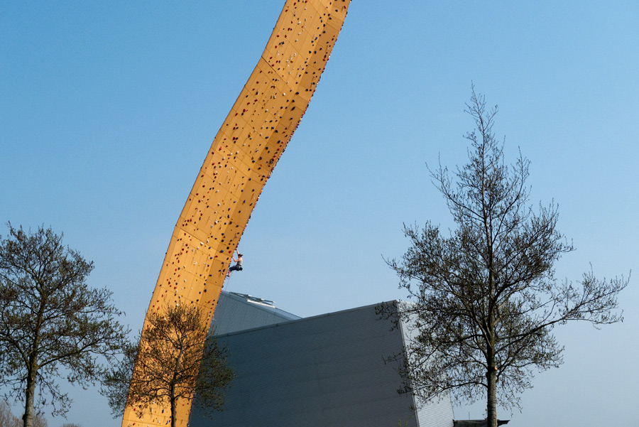 The Excalibur Tower at the Bjoeks wall in Groningen, the Netherlands., 181 kb