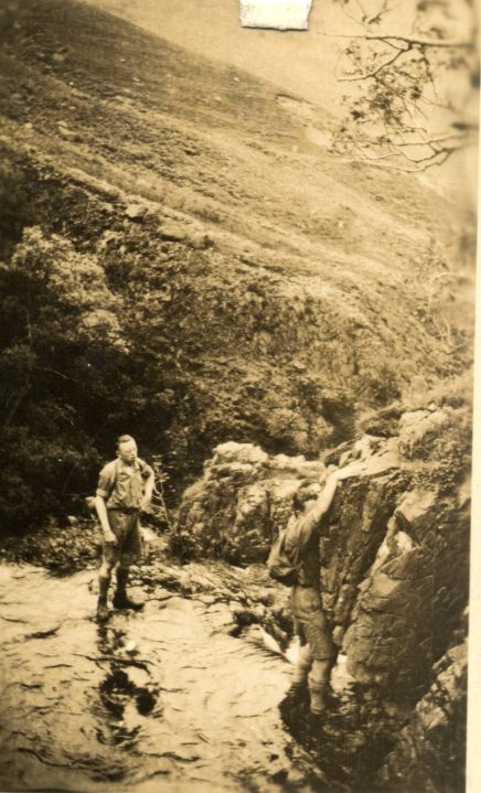 Ghyll Scrambling in the 1930's, 69 kb