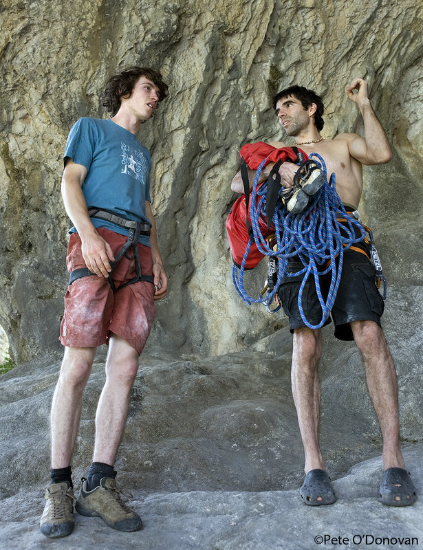 Tom Bolger and Dani Andrada discussing a mutually interesting  topic � steep rock!, 183 kb