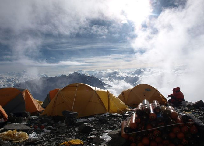 The View from Camp 4 on Everest at 7950m, 64 kb