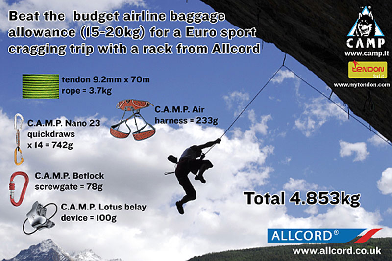 Beat the budget airline allowance with a lightweight rack from Allcord #1, 107 kb
