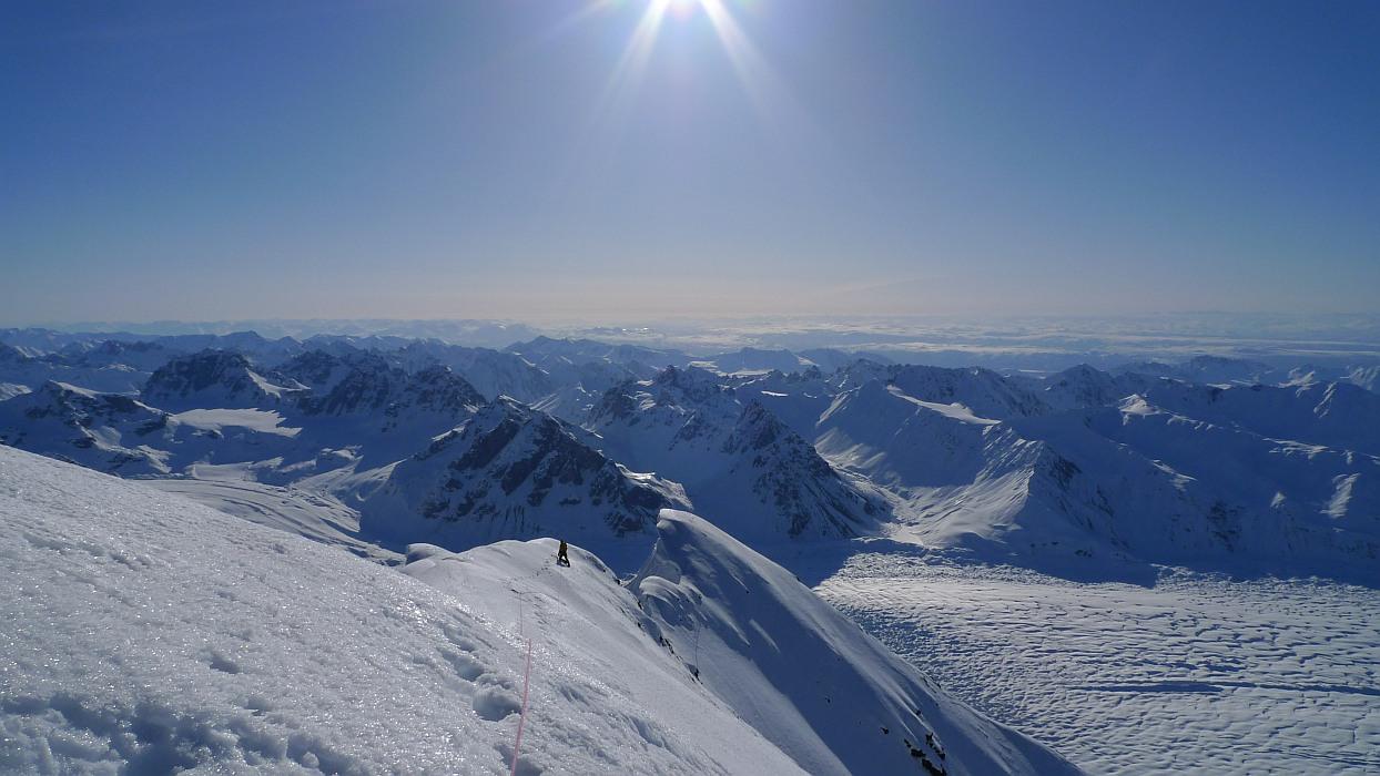 On the summit ridge of Mt Church., 204 kb