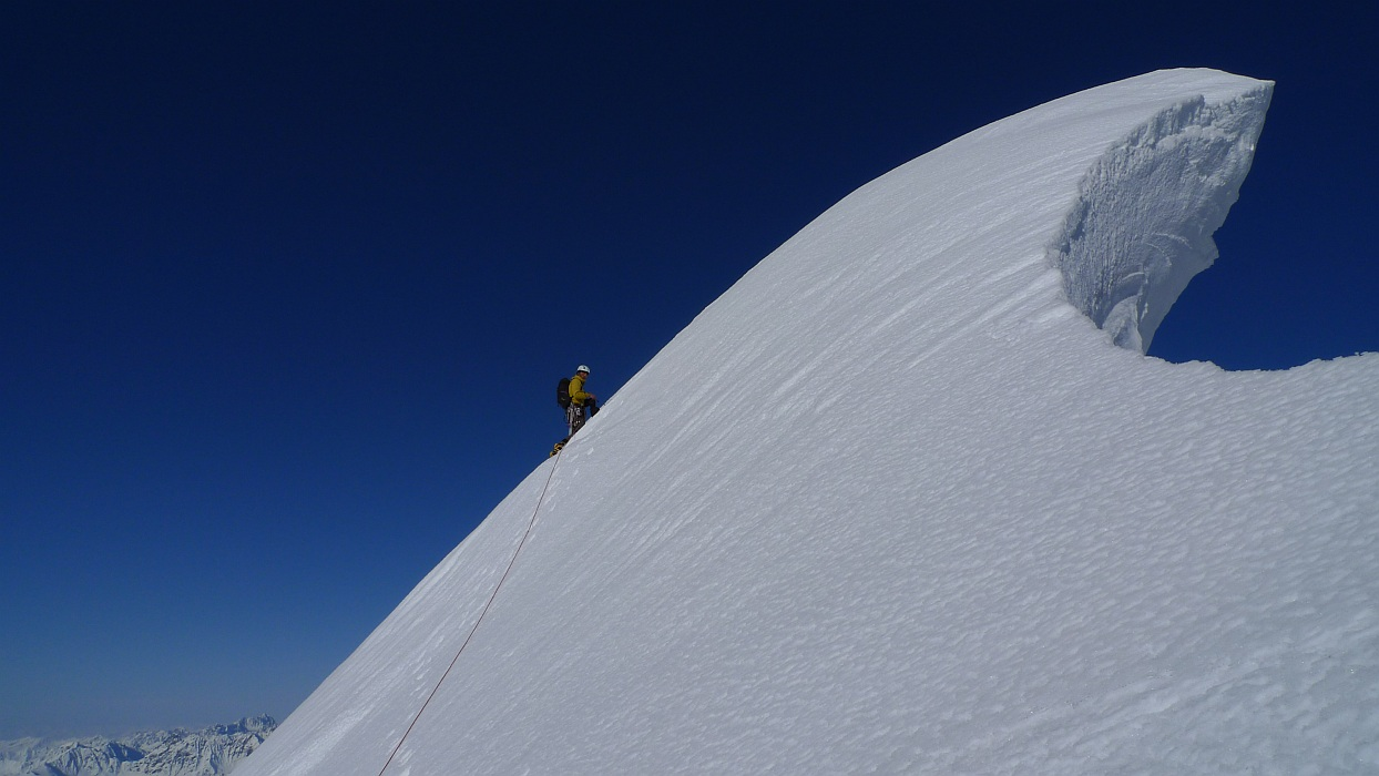 Huge cornice near the summit of Mt Church., 181 kb