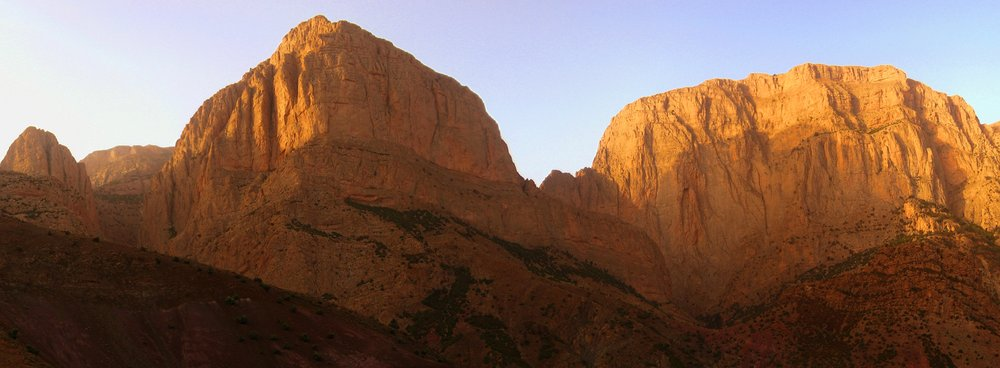 The most well established cliffs in Taghia: Oujdad and Tagoujimt N'tsouïant, 64 kb