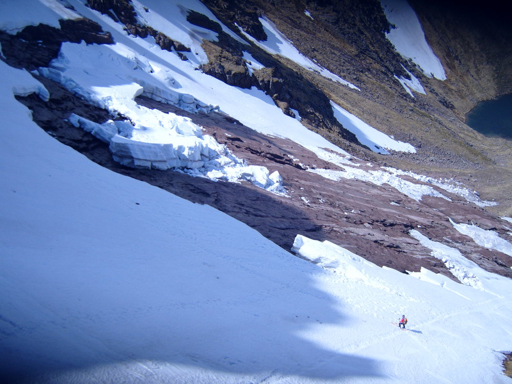 Late-season skier in Coire an Lochain, 158 kb