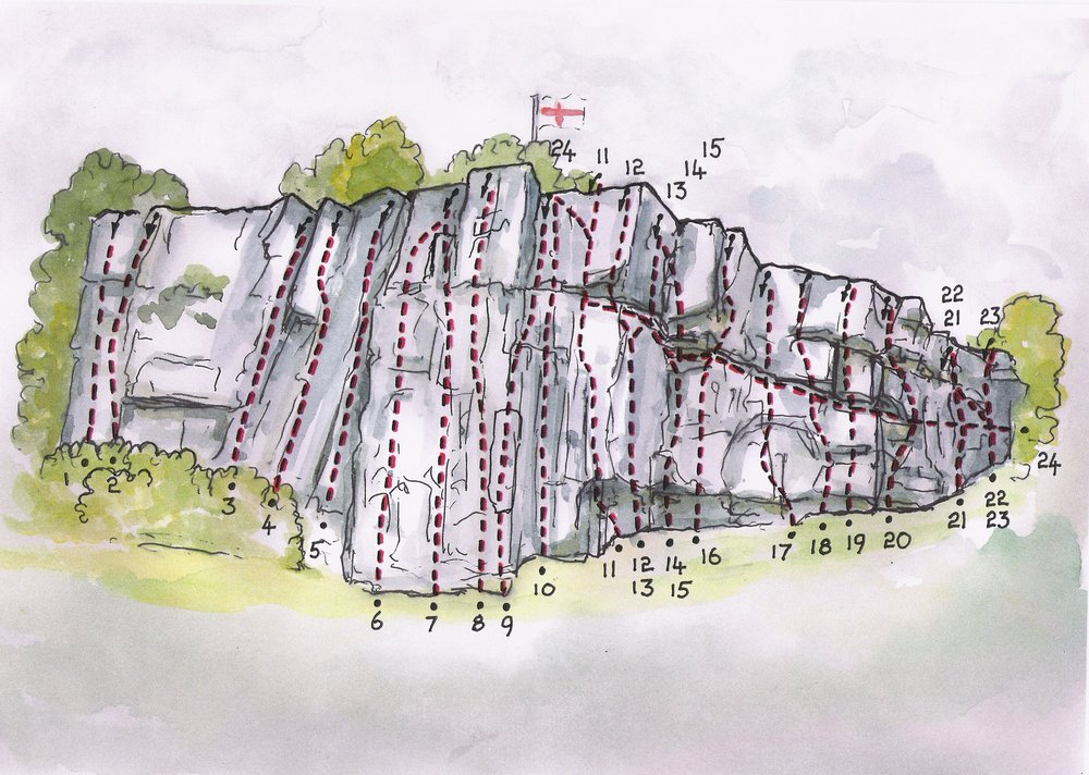 Castleberg Crag, Settle, 153 kb