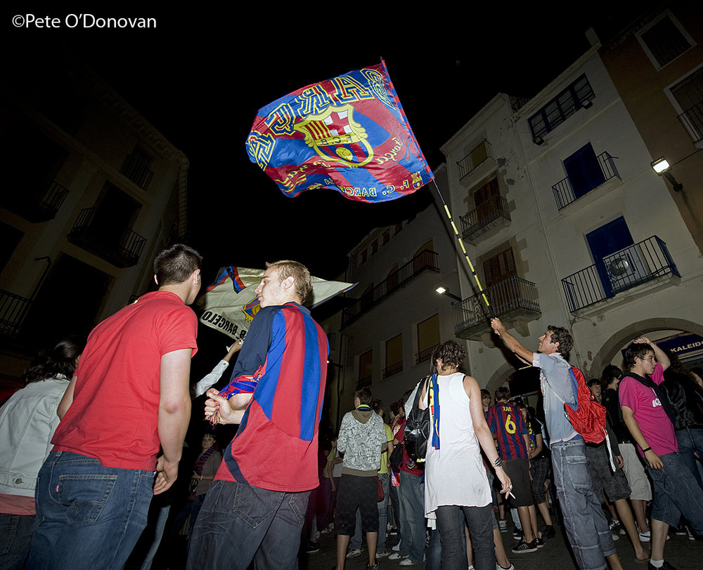 Jubilation on the streets after Barça�s 2-0 win against Manchester United, 194 kb