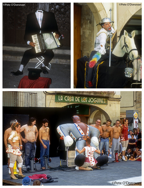 Scenes from la Fira del Teatre, an annual event held in the western Catalan town of Tàrrega, 154 kb
