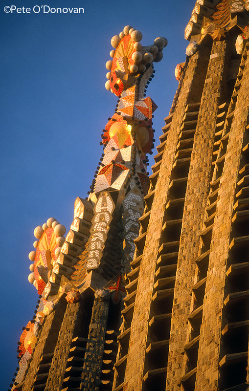 Detail from Gaudí�s Sagrada Familia in Barcelona, still a work in progress after 125 years., 149 kb