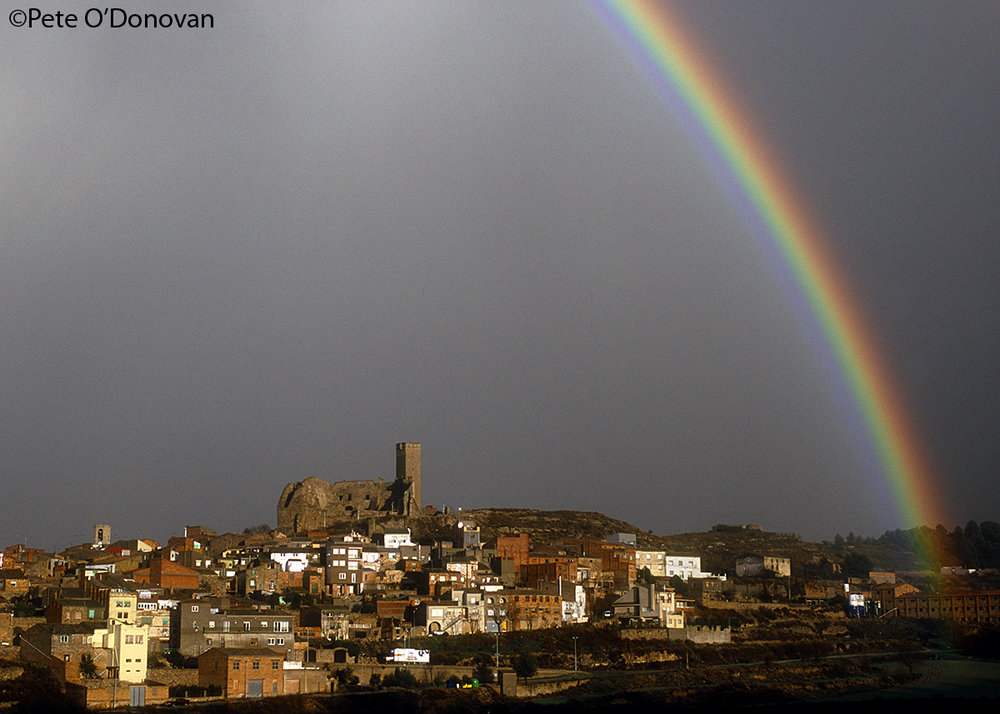 The village of Ciutadilla in Lleida province, shortly after a thunderstorm passes through., 143 kb