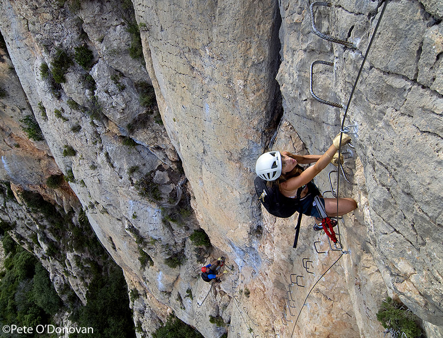 Àngels in action on the Via Ferrata de Peramola, an extremely impressive, though safe, outing near Oliana., 236 kb