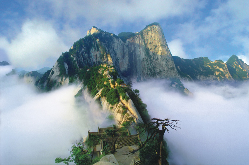 Mount Huashan in the Qinling Mountain Range of Shaanxi Province, Northwest China, 161 kb