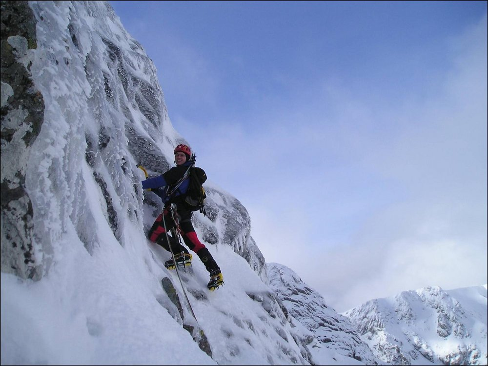 Erik Svab on Orion Face Direct, Ben Nevis, Scotland, 103 kb