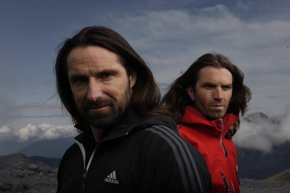 Alex and Thomas Huber, top climbers sponsored by Adidas, 126 kb