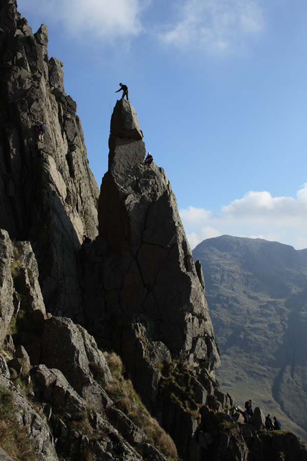 Climbers on Napes Needle and Needle Ridge, 167 kb