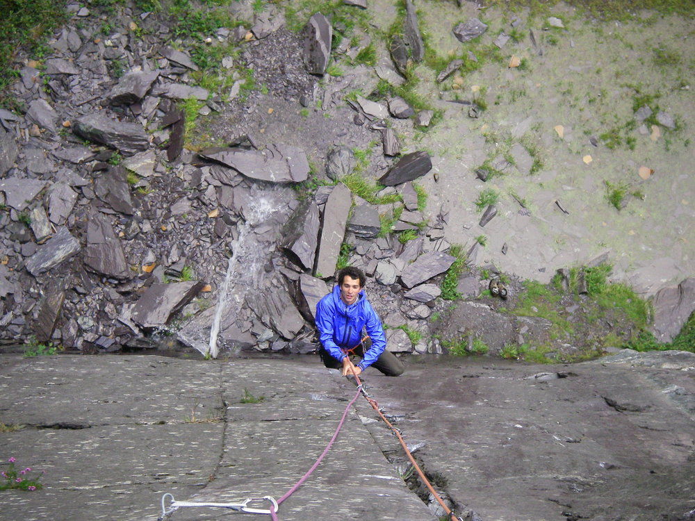 Stretch Halo Jacket on test in the Llanberis Slate Quarries, 221 kb